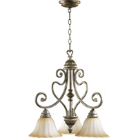 Quorum International Summerset 3 Light Dinette Chandelier in Mystic Silver 6326-3-58