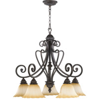 Quorum 6326-5-44 Summerset 5 Light 29 inch Toasted Sienna Chandelier Ceiling Light