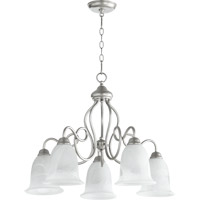 Quorum International Maris 5 Light Dinette Chandelier in Classic Nickel 6327-5-64
