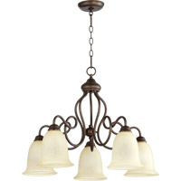 Quorum International Maris 5 Light Dinette Chandelier in Oiled Bronze 6327-5-86