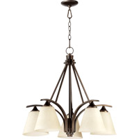 Quorum 6329-5-186 Winslet II 5 Light 28 inch Oiled Bronze Dinette Chandelier Ceiling Light photo thumbnail
