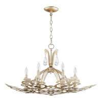 Charlton 6 Light 30 inch Aged Silver Leaf Chandelier Ceiling Light
