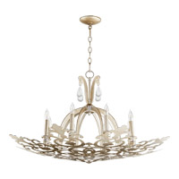 Charlton 8 Light 36 inch Aged Silver Leaf Chandelier Ceiling Light
