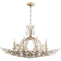 Quorum 633-8-60 Charlton 8 Light 36 inch Aged Silver Leaf Chandelier Ceiling Light