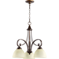 Quorum 6331-3-86 Lariat 3 Light 23 inch Oiled Bronze Dinette Chandelier Ceiling Light