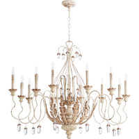 Quorum 6344-12-70 Venice 12 Light 40 inch Persian White Chandelier Ceiling Light
