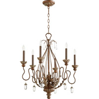 Quorum 6344-6-39 Venice 6 Light 25 inch Vintage Copper Chandelier Ceiling Light