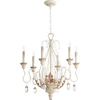 Quorum Venice 6 Light Chandelier in Persian White 6344-6-70