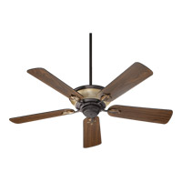 Quorum 63525-44 Roderick 52 inch Toasted Sienna with Golden Fawn with Reversible Toasted Sienna and Walnut Blades Ceiling Fan
