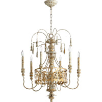Leduc 6 Light 23 inch Florentine Gold Chandelier Ceiling Light