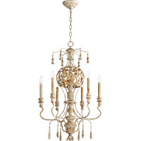 Leduc 6 Light 21 inch Florentine Gold Chandelier Ceiling Light