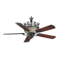 Quorum International Turino 4 Light Ceiling Fan in Toasted Sienna 63565-44
