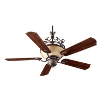 Quorum International Turino 4 Light Ceiling Fan in Oiled Bronze 63565-86