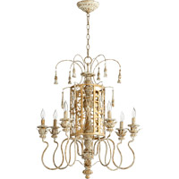 Quorum 6357-6-61 Leduc 6 Light 25 inch Florentine Gold Chandelier Ceiling Light
