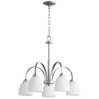 Quorum 6360-5-64 Reyes 5 Light 26 inch Classic Nickel Dinette Chandelier Ceiling Light
