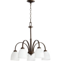 Quorum 6360-5-86 Reyes 5 Light 26 inch Oiled Bronze Dinette Chandelier Ceiling Light