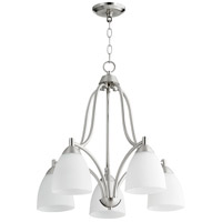 Quorum 6369-5-65 Barkley 5 Light 24 inch Satin Nickel Nook Ceiling Light