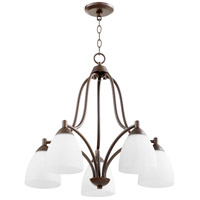 Quorum 6369-5-86 Barkley 5 Light 24 inch Oiled Bronze Nook Ceiling Light