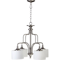 Quorum 6390-4-65 Rockwood 4 Light 25 inch Satin Nickel Dinette Chandelier Ceiling Light