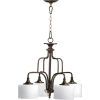 Quorum 6390-4-86 Rockwood 4 Light 25 inch Oiled Bronze Dinette Chandelier Ceiling Light