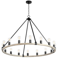 Noir and Weathered Oak Paxton Chandeliers