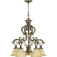 Quorum International Barcelona 5 Light Chandelier in Mystic Silver 6400-5-58