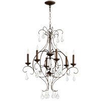 Quorum 6405-6-39 Ariel 6 Light 25 inch Vintage Copper Chandelier Ceiling Light