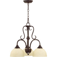 Powell 3 Light 22 inch Toasted Sienna Dinette Chandelier Ceiling Light