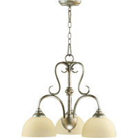 Quorum International Powell 3 Light Dinette Chandelier in Mystic Silver 6408-3-58