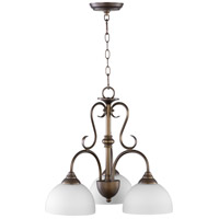 Quorum 6408-3-86 Powell 3 Light 22 inch Oiled Bronze Nook Chandelier Ceiling Light