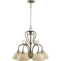 Powell 5 Light 22 inch Mystic Silver Dinette Chandelier Ceiling Light