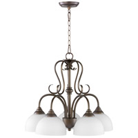Powell 5 Light 22 inch Oiled Bronze Nook Chandelier Ceiling Light