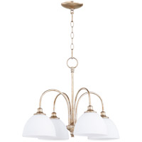 Quorum 6409-4-60 Celeste 4 Light 22 inch Aged Silver Leaf Chandelier Ceiling Light