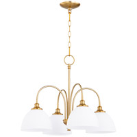 Quorum 6409-4-80 Celeste 4 Light 22 inch Aged Brass Chandelier Ceiling Light