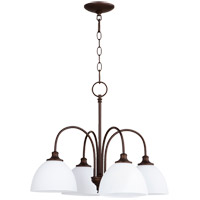 Quorum 6409-4-86 Celeste 4 Light 22 inch Oiled Bronze Chandelier Ceiling Light