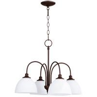 Quorum 6409-4-86 Celeste 4 Light 22 inch Oiled Bronze Chandelier Ceiling Light