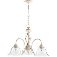 Quorum 6410-3-170 Spencer 21 inch Persian White Nook Ceiling Light in Clear Seeded, Clear Seeded