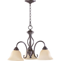 Spencer 3 Light 21 inch Toasted Sienna Dinette Chandelier Ceiling Light in Amber Scavo
