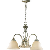 Spencer 3 Light 21 inch Mystic Silver Dinette Chandelier Ceiling Light in Amber Scavo