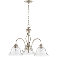 Quorum 6410-3-60 Spencer 21 inch Aged Silver Leaf Nook Ceiling Light in Clear Seeded, Clear Seeded