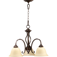 Quorum 6410-3-86 Spencer 3 Light 21 inch Oiled Bronze Dinette Chandelier Ceiling Light in Amber Scavo