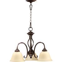 Quorum 6410-3-86 Spencer 3 Light 21 inch Oiled Bronze Dinette Chandelier Ceiling Light in Amber Scavo