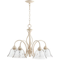 Quorum 6410-5-170 Spencer 24 inch Persian White Nook Ceiling Light in Clear Seeded, Clear Seeded