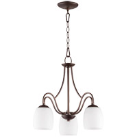 Quorum 6412-3-186 Willingham 18 inch Oiled Bronze Nook Ceiling Light in Satin Opal Satin Opal