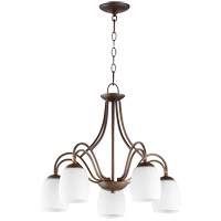 Quorum 6412-5-186 Willingham 23 inch Oiled Bronze Nook Ceiling Light in Satin Opal Satin Opal