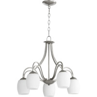 Quorum International Willingham 5 Light Dinette Chandelier in Classic Nickel 6412-5-64