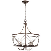 Quorum 6416-5-86 Cilia 21 inch Oiled Bronze Pendant Ceiling Light
