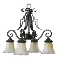 Quorum International Delphi 4 Light Dinette Chandelier in Coffee 6421-4-13