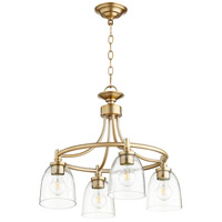 Quorum 6422-4-280 Rossington 4 Light 21 inch Aged Brass Nook Ceiling Light