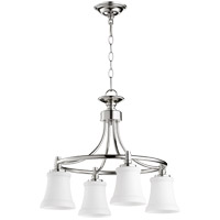 Quorum 6422-4-62 Rossington 4 Light 21 inch Polished Nickel Chandelier Ceiling Light